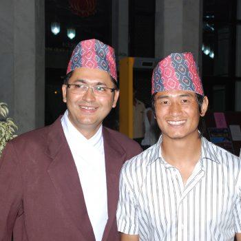Baichung with Namraj just before his departure to Kolkata
